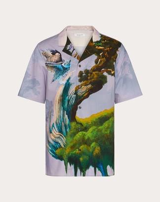 Valentino Blind Owl Short-sleeved Shirt Man Multicolored 100% Cotone 44