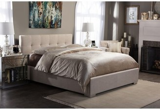 Trudeau Latitude Run Upholstered Platform Bed Latitude Run Size: King, Color: Beige