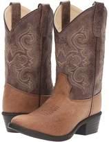 Old West Kids Boots J Toe Vintage Cowboy Boots