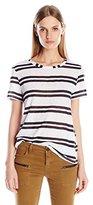 Michael Stars Women's Montauk Stripe Short Sleeve Crew Neck Tee