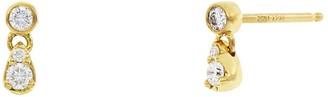 Bony Levy 18K Yellow Gold Prong Set Mix Diamond Petite Stud Earrings - 0.12 ctw