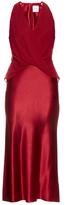 Dion Lee Silk-satin twist-front midi dress