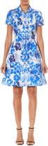 Carolina Herrera Floral Print Cotton & Silk Mini Shirtdress