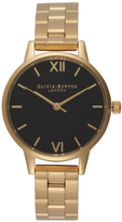 Olivia Burton Women's Midi Dial Watch Black Dial/Gold Bracelet