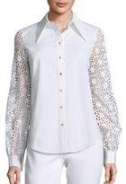 Michael Kors Eyelet Button Front Shirt