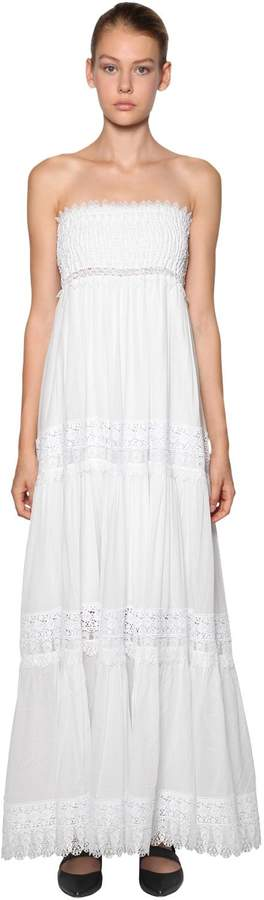 0234463113acea White Cotton Strapless Dress - ShopStyle