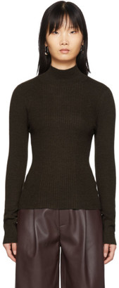 Áeron Brown Eden High Neck Ribbed Turtleneck