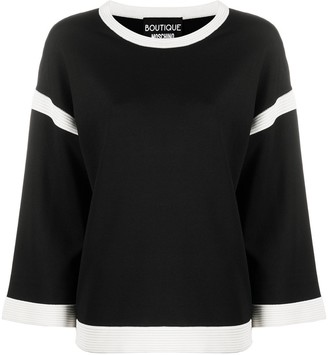 Boutique Moschino Knitted Two Tone Jumper