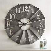 Pier 1 Imports Galvanized Windmill Wall Clock