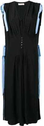 Marni tie shoulder midi dress