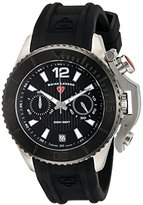 Swiss Legend Men's 'Scorpion' Quartz Stainless Steel and Silicone Automatic Watch, Color:Black (Model: 14018SM-01-BB)