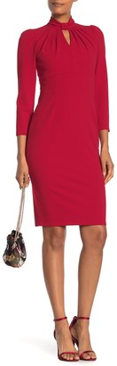 Calvin Klein Mock Neck Keyhole Sheath Dress