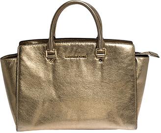 Michael Kors MICHAEL Gold Leather Large Selma Satchel