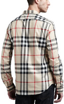 Burberry New Classic Check Button-Down Shirt