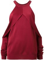 Dion Lee draped cut-out sleeve sweater - women - Nylon/Rayon - 6