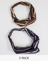 Asos Pack of 2 Stripe Twist Headband