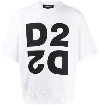 DSQUARED2 Mirrored D2 short-sleeve sweatshirt