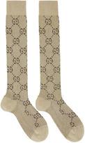 Gucci Beige Crystal GG Socks