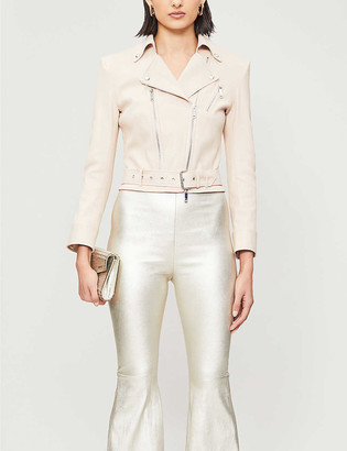 Jitrois Kristen leather biker jacket
