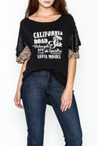 Free People Flutter Sleeve Graphic Tee