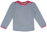 Jo-Jo JoJo Maman Bebe Stripe Top (Toddler/Kid) - Navy/Cream Stripe-3-4 Years