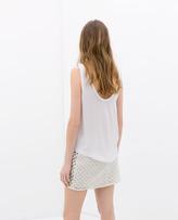 Zara Jewelled Guipure Skirt