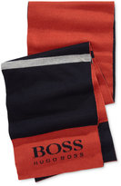 HUGO BOSS Men's Colorblocked Logo Scarf