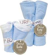 Trend Lab 8-pc. Seersucker Bib & Burp Cloth Set
