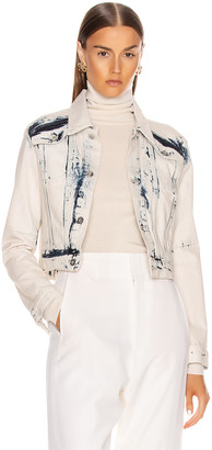 Proenza Schouler White Label Cropped Jacket in Bleach Out | FWRD