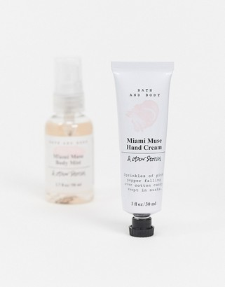 And other stories & Miami Muse mini mist and hand cream gift set