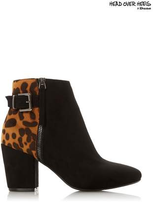 Head Over Heels Womens Buckle Ankle Boots - Black