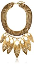 Lucky Brand Leaf Statement Necklace