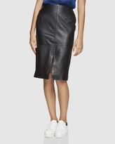 Oxford Darby Leather Pencil Skirt