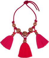 Lanvin Tassled enameled bead necklace