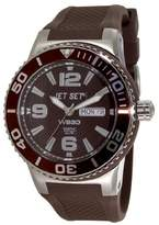 Jet Set J 55454-767-Wb30 Unisex Watch Analogue Quartz Brown Rubber Strap Brown Dial