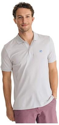 Southern Tide Jack Heather Performance Pique Polo Shirt (Heather True Navy) Men's Short Sleeve Knit