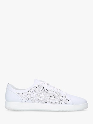 Cole Haan Women's GrandPr Tennis Embroidered Flatform Trainers, White