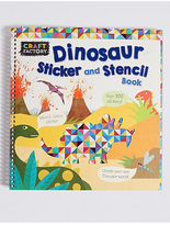 Marks and Spencer Craft Factory Dinosaur Stencil Book
