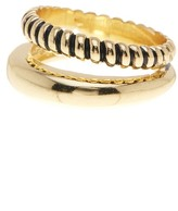 Ariella Collection Double Barrel Ring