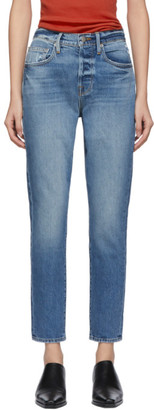 Frame Blue Mix Pocket Le Original Skinny Jeans