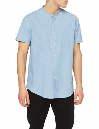 Find. Amazon Brand Men's Short Sleeve Chambray Grandad Shirts
