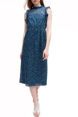Kate Spade Flora Lace Ruffle Dress