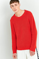 Shore Leave By Urban Outfitters Orange Fisherman Knit Jumper