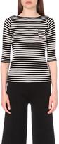 Mo&Co. Striped wool top