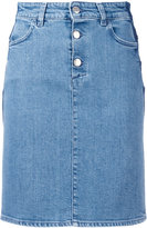 Closed fitted denim skirt - women - Cotton/Spandex/Elastane - 27