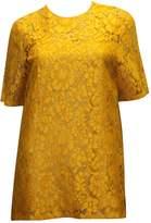 Prada Yellow Lace Tops