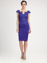 David Meister Embroidered Lace Dress