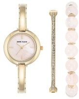 Anne Klein Women's Bracelet Watch & Bangle Set