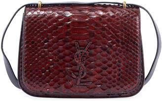 Saint Laurent Spontini Medium Python Shoulder Bag