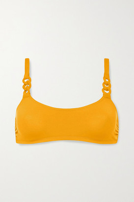 Eres Gourmette Breloque Braided Bikini Top - Saffron